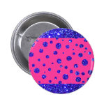 Pink and Purple Sparkle Polka Dots Fun Buttons