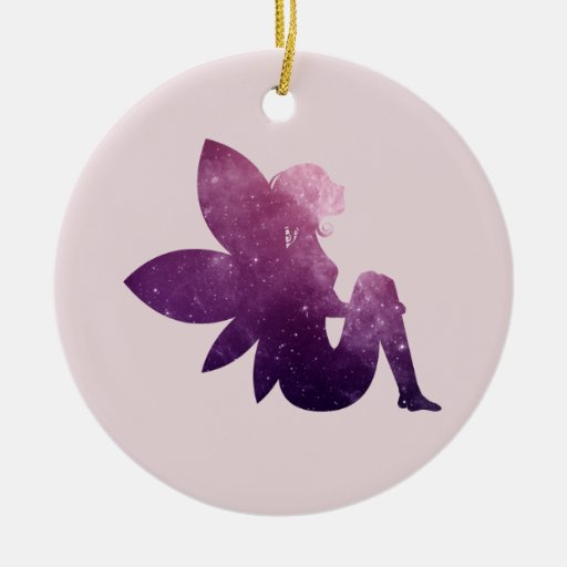 Pink and Purple Sprite Christmas Tree Ornament
