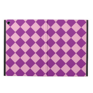 Pink and purple squares pattern ipad case