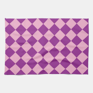 Pink and purple squares pattern towel