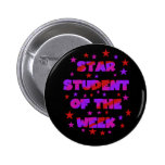 Pink and Purple Star Student of Week Pin