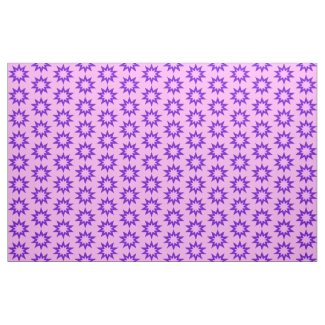 Pink and Purple Stars Fabric