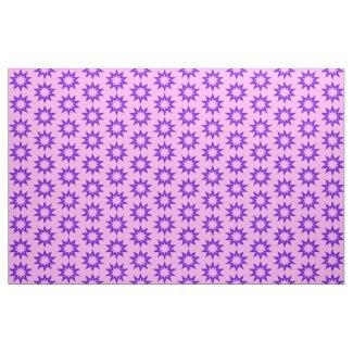 Pink and Purple Stars Fabric