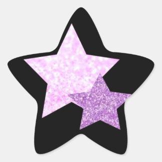 Pink and Purple Stars Star Stickers