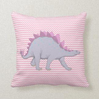 Pink and Purple Stegosaurus Dinosaur Pillow