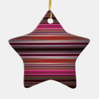 Pink and purple stripes pattern ceramic ornament