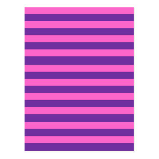 Pink and Purple Stripes Pattern Postcard