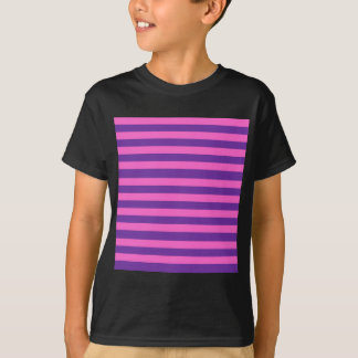 Pink and Purple Stripes Pattern T-Shirt
