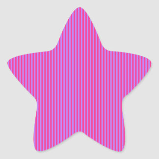 Pink and Purple Stripes Star Stickers