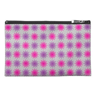Pink and purple sun pattern travel bag travel accessories bag