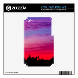 Pink and purple sunset iPod touch 4G decal