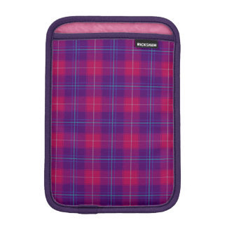 Pink and Purple Tartan Plaid Pattern iPad Sleeve