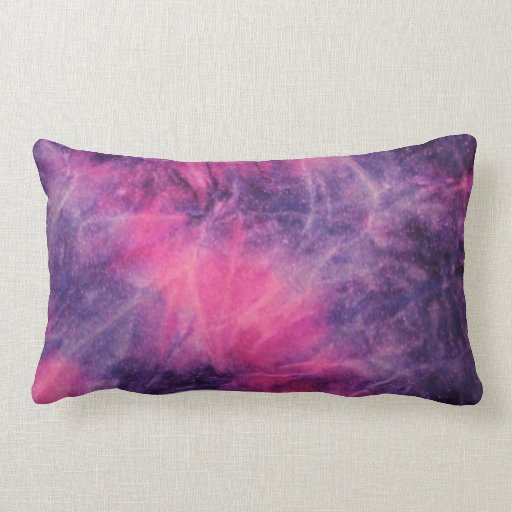 Pink Purple Decorative Pillows : Pink and purple tie dye throw pillow