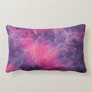 Pink and purple tie dye throw pillow