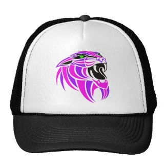 Pink and Purple Tiger Head Trucker Hat