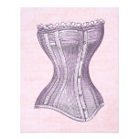 Pink and Purple Victorian Corset Vintage Style Announcement