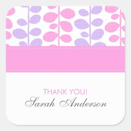 Pink and Purple Vines Square Sticker