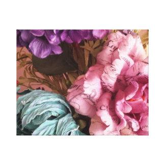 Pink and Purple Vintage Bouquet Canvas Print