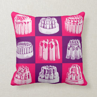 Pink and Purple Vintage Jelly Mould cushions