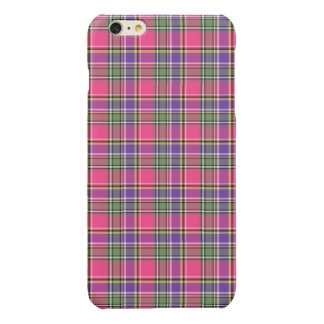 Pink and Purple Vintage Plaid Glossy iPhone 6 Plus Case