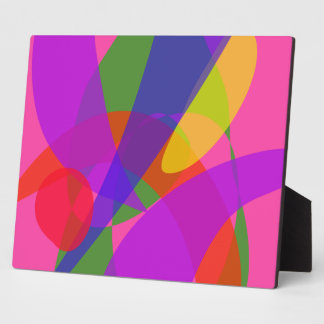 Pink and Purple Vivid Colors Display Plaque