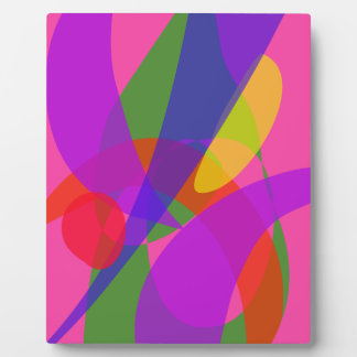 Pink and Purple Vivid Colors Display Plaques