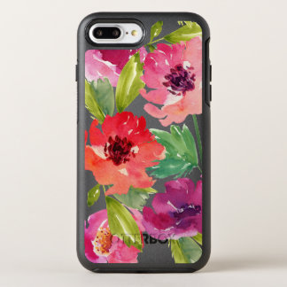 Pink and Purple Watercolor Blossoms OtterBox Symmetry iPhone 7 Plus Case