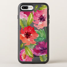 Pink And Purple Watercolor Blossoms Otterbox Symmetry Iphone 8 Plus/7 Plus Case at Zazzle