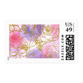 Pink and Purple Watercolor Stamp