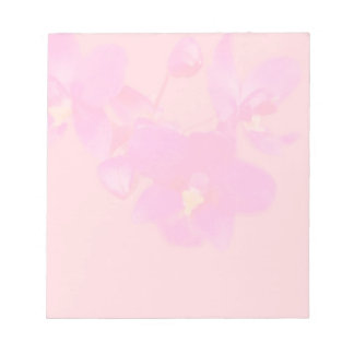 pink and purple watercolour orchids notepad
