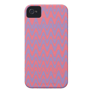 Pink and purple wavey pattern iPhone 4 cover