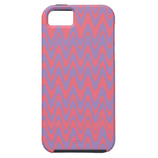 Pink and purple wavey pattern iPhone SE/5/5s case