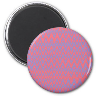 Pink and purple wavey pattern magnet