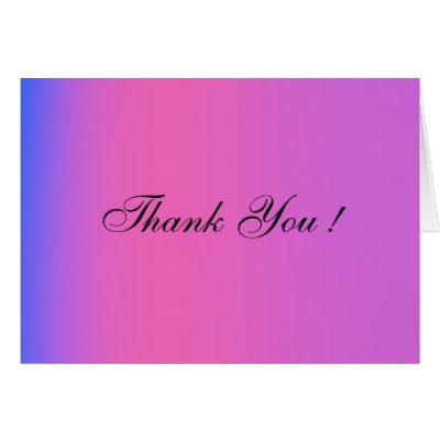 Pink and Purple Wedding Blank Thank You Cards