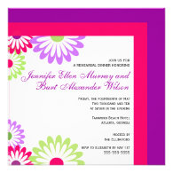 Pink and Purple - Wedding Rehearsal Dinner Invites