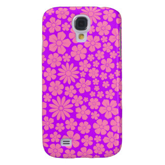 Pink and Purple Wildflowers Pattern Galaxy S4 Cover
