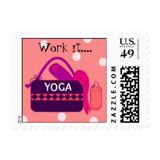 Pink and Purple Yoga Gear Stamp