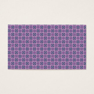 Pink and purple zigzag squares business card