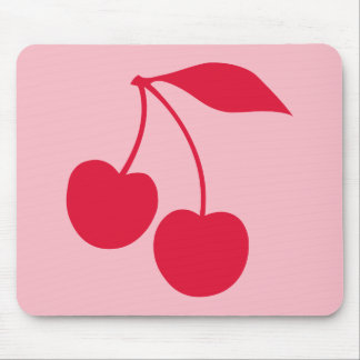 Pink and Red Cherries Shape Mouse Pads