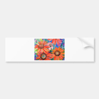 Pink and Red Coneflowers Bumper Sticker