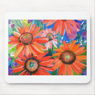 Pink and Red Coneflowers Mouse Pad