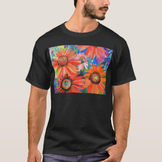 Pink and Red Coneflowers T-Shirt