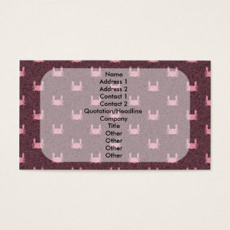 Pink and Red Crab Pattern Business Card