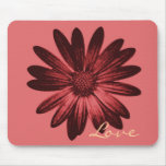 Pink and Red Daisy Mouse Pad