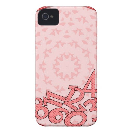 Pink and red, fallen numbers iPhone 4 cases