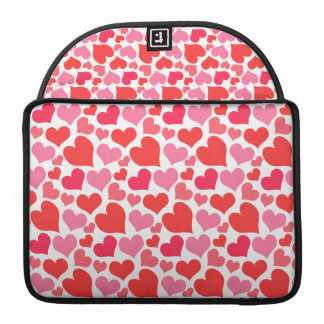 Pink and Red Hearts Sleeve For MacBooks