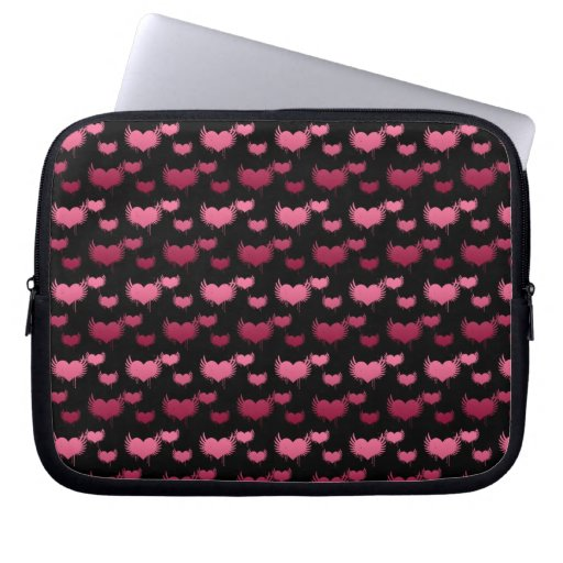 Pink and Red Hearts Pattern Laptop Sleeve