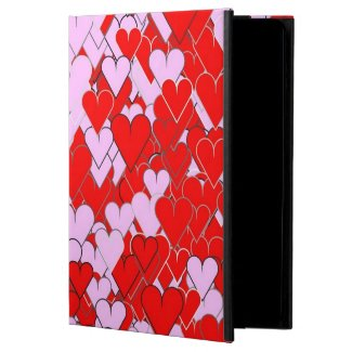 Pink and Red Hearts Powis iCase iPad Air Case