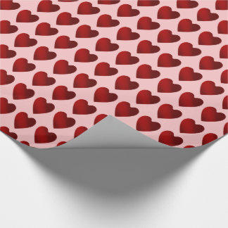 Pink and red hearts Valentines Day Wrapping Paper