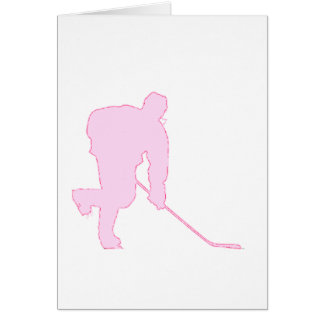 PINK AND RED HOCKEY CARD